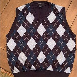 Brooks Brothers argyle Pima cotton sweater vest